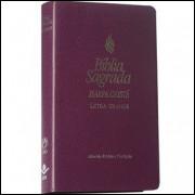 Bíblia com Harpa Cristã Letra Grande Violeta