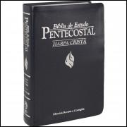 Bíblia de Estudo Pentecostal Média com Harpa Cristã Azul