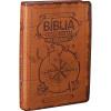 Bíblia das Descobertas para Adolescentes Luxo Marrom