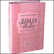 Bíblia Feminina da Mulher Média RA Rosa Claro
