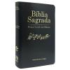 Bíblia com Harpa Cristã com Música Luxo Preta