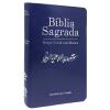 Bíblia com Harpa Cristã com Música Luxo Azul