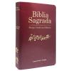 Bíblia com Harpa Cristã com Música Luxo Vinho