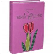 Bíblia da Mulher Estudo Devocional Média Orquídea