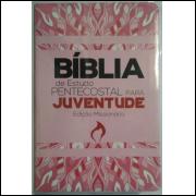 Bíblia de Estudo Pentecostal para Juventude Edição Missionária Rosa