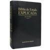 Bíblia de Estudo Explicada Grande Luxo Preta