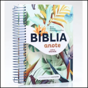 Bíblia Anote Letra Grande Capa Flores Tropical