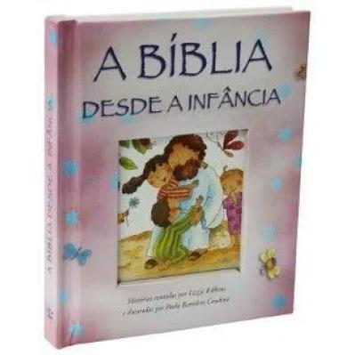A Bíblia Desde a Infância Capa Dura Almofada Rosa