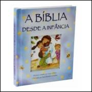A Bíblia Desde a Infância Capa Dura Almofada Azul