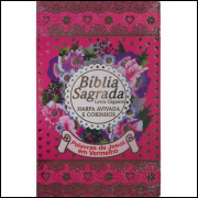 Bíblia Feminina com Harpa Avivada e Corinhos Letra Grande Pink