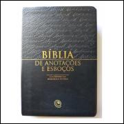 Bíblia de Anotações e Esboços com Harpa Luxo