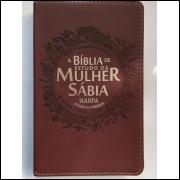 Bíblia de Estudo da Mulher Sábia com Harpa Letra Grande Bordô