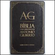 Bíblia com Comentários de Antonio Gilberto Marrom Escuro